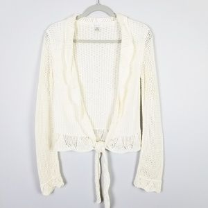 Christopher & Banks White Crop Sweater Size M